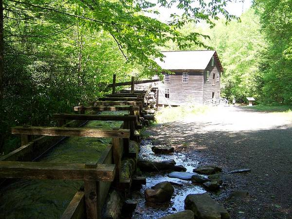 Grist Mill Poster featuring the photograph The Working Mill by Regina McLeroy