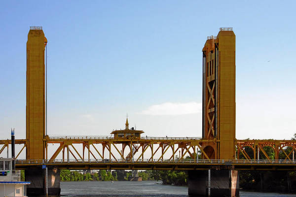 Tower Bridge Poster featuring the photograph Tower Bridge Sacramento - A Golden State Icon by Christine Till