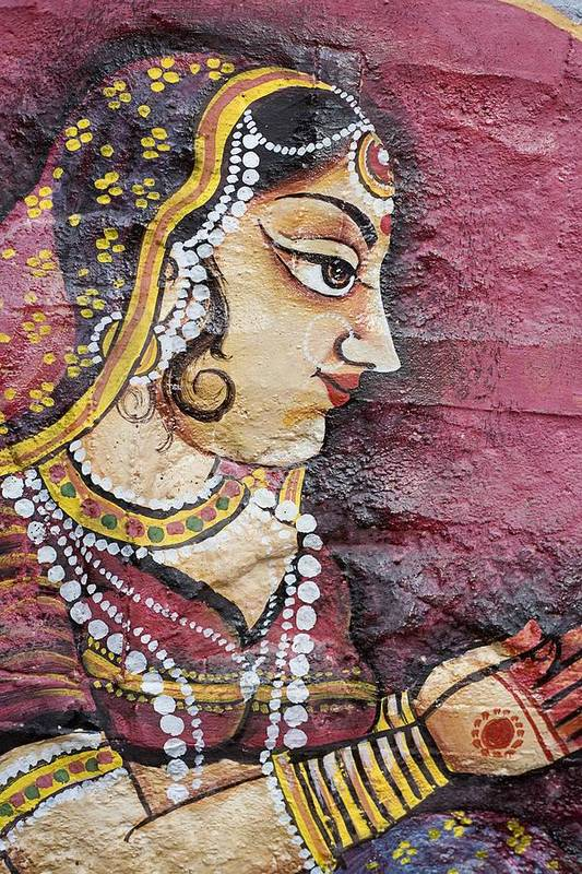 Art Poster featuring the photograph Traditional Painting On A Wall Jodhpur by David DuChemin
