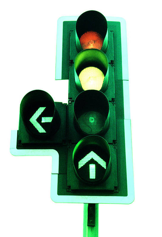 Machine Poster featuring the photograph Traffic Lights by Kevin Curtis