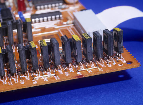 Electronic Component Poster featuring the photograph Transistors And Diodes by Andrew Lambert Photography