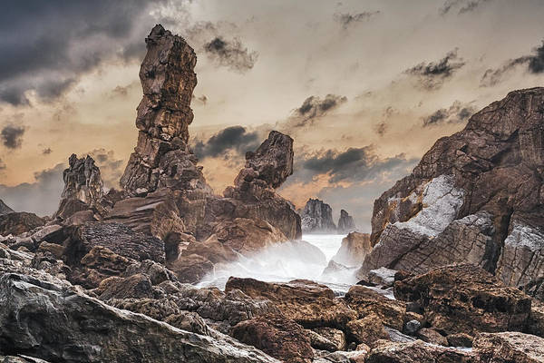 Atlantic Ocean Poster featuring the photograph Trident by Evgeni Dinev