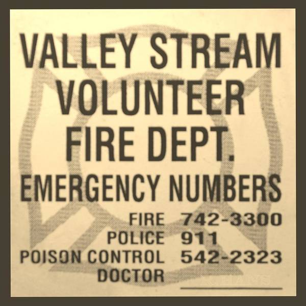 Maltese Cross Poster featuring the photograph Vallet Stream Fire Department In Sepia by Rob Hans