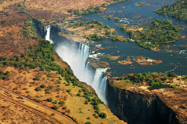 Horizontal Poster featuring the photograph Victoria Falls, Zambia by © Pascal Boegli