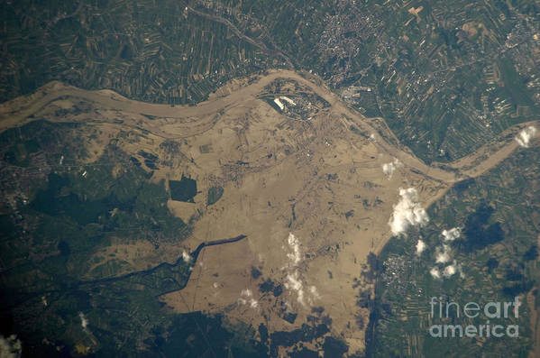 Aerial View Poster featuring the photograph Vistula River Flooding, Southeastern by NASA/Science Source