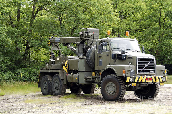Belgium Poster featuring the photograph Volvo N10 Truck Crane Of The Belgian by Luc De Jaeger