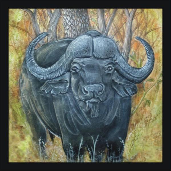Water Buffalo Poster featuring the painting Waterbuffalo by Tod Locke