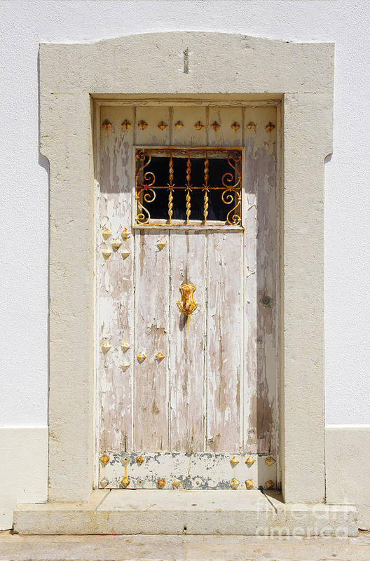Abstract Poster featuring the photograph White Door by Carlos Caetano