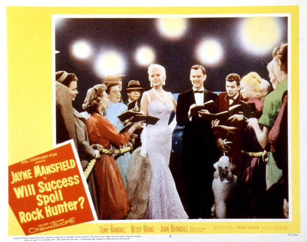 1957 Movies Poster featuring the photograph Will Success Spoil Rock Hunter, Jayne by Everett