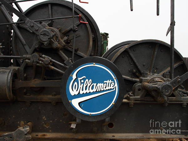 Willamette Poster featuring the photograph Willamette Steam Engine 7d15104 by Wingsdomain Art and Photography