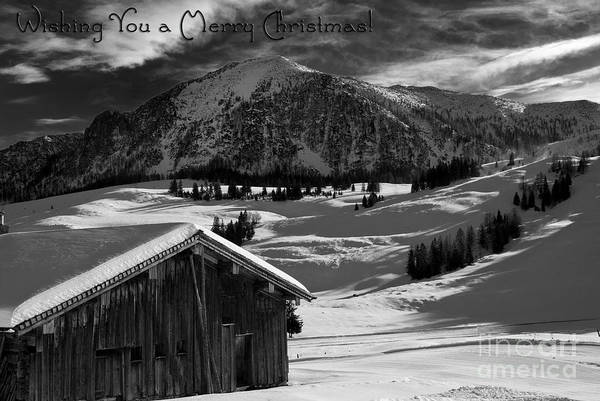 Winter Poster featuring the photograph Wishing You A Merry Christmas Austria Europe by Sabine Jacobs
