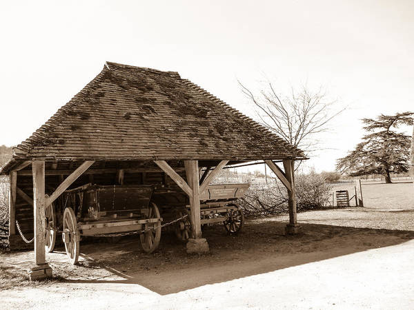 Cart Poster featuring the photograph Wiston Wagon Shed by Dawn OConnor
