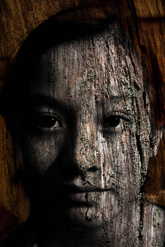 Girl Poster featuring the painting Woodland Spirit by Christopher Gaston