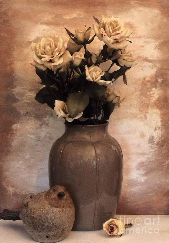 Photo Poster featuring the photograph Yellow Tinted Roses by Marsha Heiken