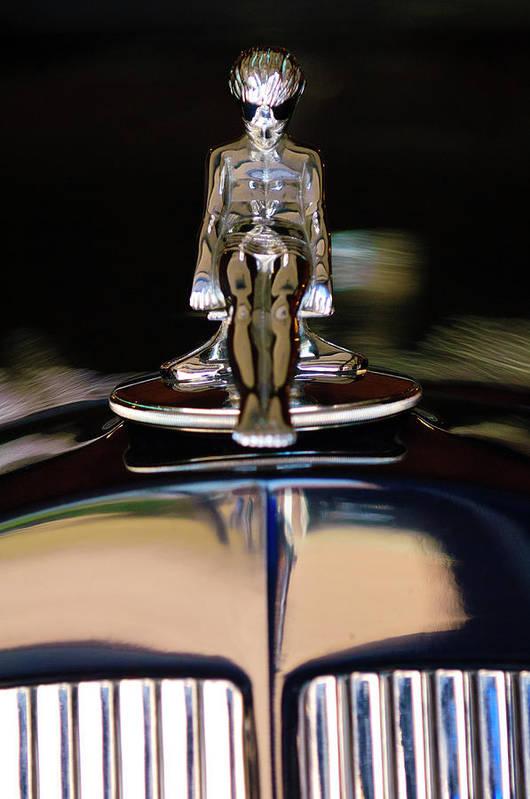 1934 Packard Poster featuring the photograph 1934 Packard Hood Ornament 3 by Jill Reger