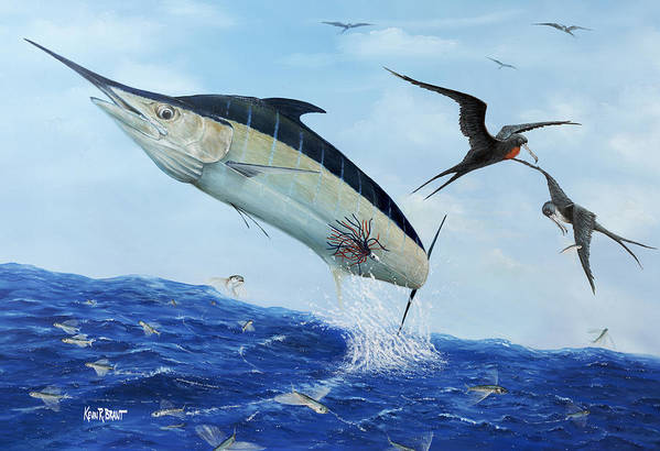 Marlin Poster featuring the painting Airbourne by Kevin Brant