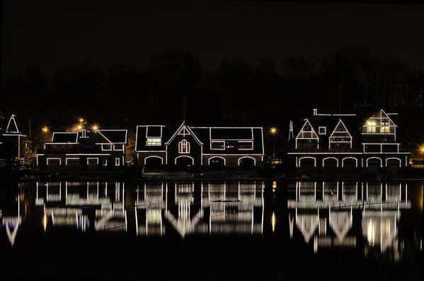 boathouse Row Poster featuring the photograph Boathouse Row - Philadelphia by Brendan Reals