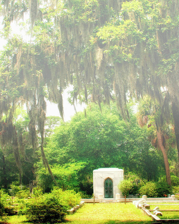 Savannah Poster featuring the photograph Bonaventure Cemetery Savannah Ga by William Dey