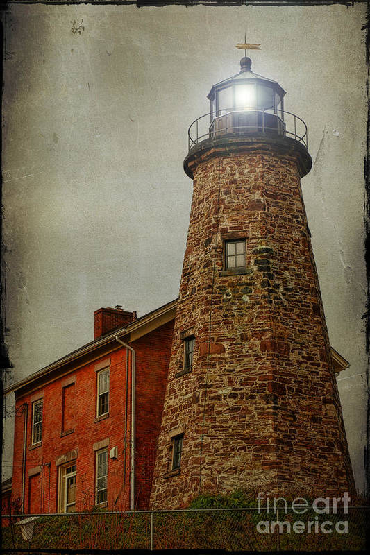 Lighthouse Poster featuring the photograph Charlotte Genesee Lighthouse by Joel Witmeyer