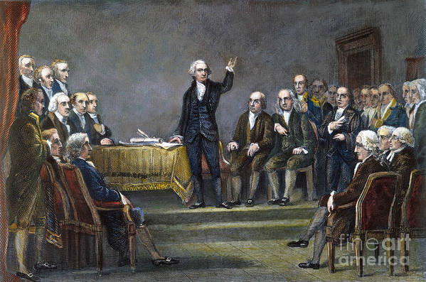 1787 Poster featuring the photograph Constitutional Convention by Granger