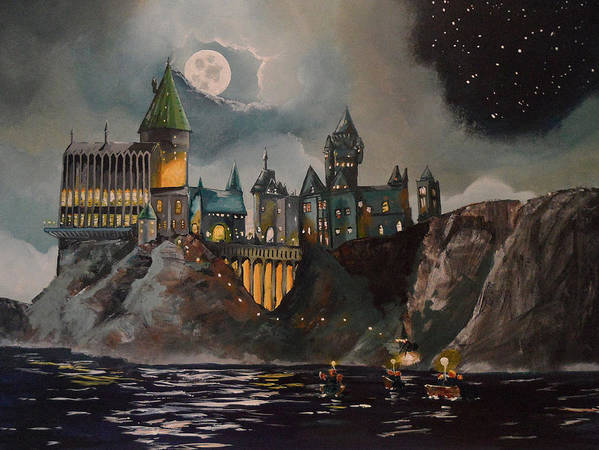 Harry Poster featuring the painting Hogwart's Castle by Tim Loughner