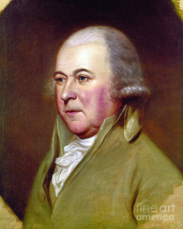 18th Century Poster featuring the photograph John Adams (1735-1826) by Granger