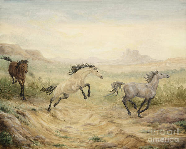 Horse Poster featuring the painting Passing Through by Cathy Cleveland