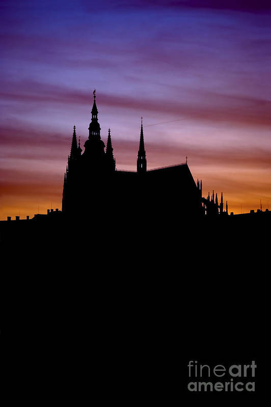 Hradcany Poster featuring the photograph Prague Castle by Michal Boubin