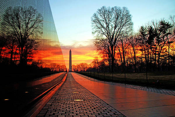 Vietnam Memorial Poster featuring the photograph Resolve by Mitch Cat