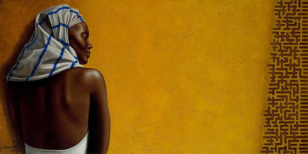 Black Woman Poster featuring the painting Soul Gleams by Horacio Cardozo