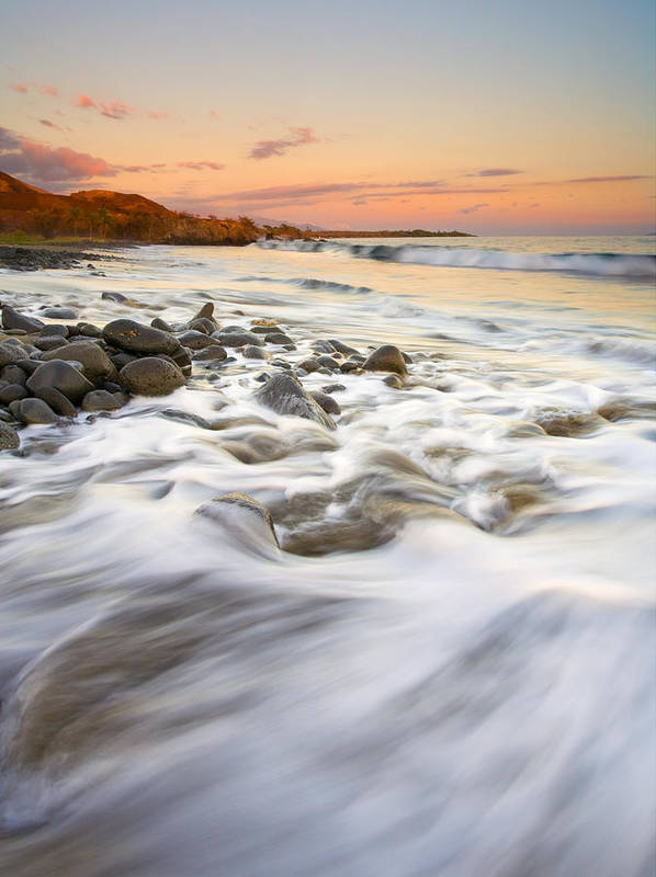 Beach Poster featuring the photograph Sunset Tides by Mike Dawson