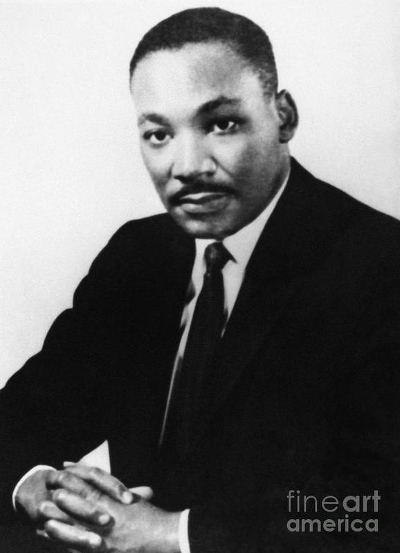 1968 Poster featuring the photograph Martin Luther King, Jr by Granger