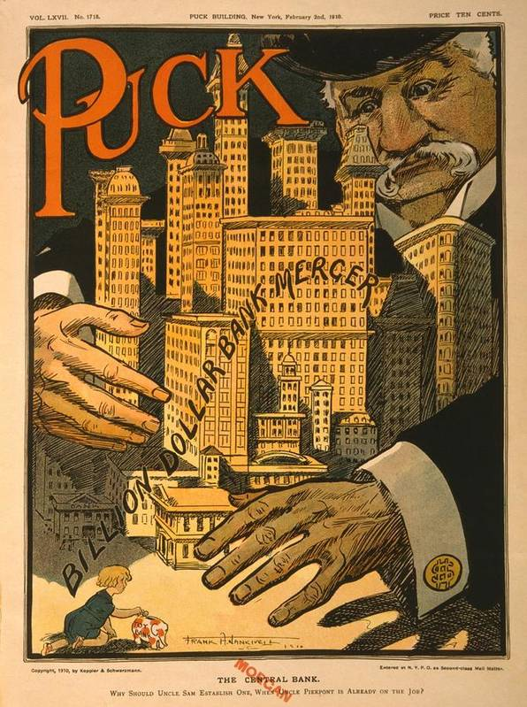 History Poster featuring the photograph 1910 Cartoon Expressing Concern That by Everett