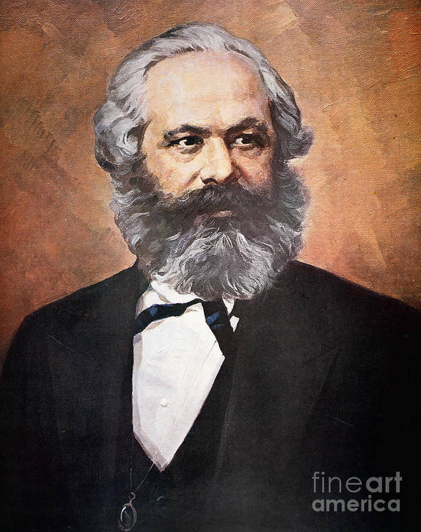 Karl Marx (photogravure)karl Marx (1818-93) Poster featuring the painting Karl Marx by Unknown