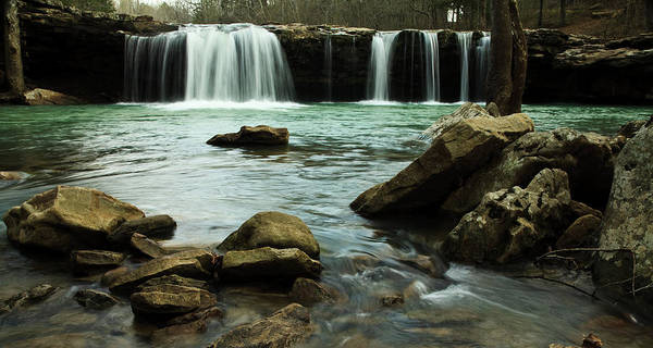 Landscape Poster featuring the photograph Falling Water Falls by Iris Greenwell