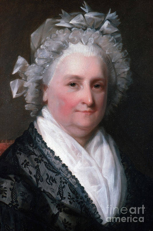 History Poster featuring the photograph Martha Washington, American Patriot by Photo Researchers