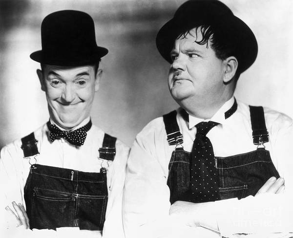 20th Century Poster featuring the photograph Laurel And Hardy by Granger