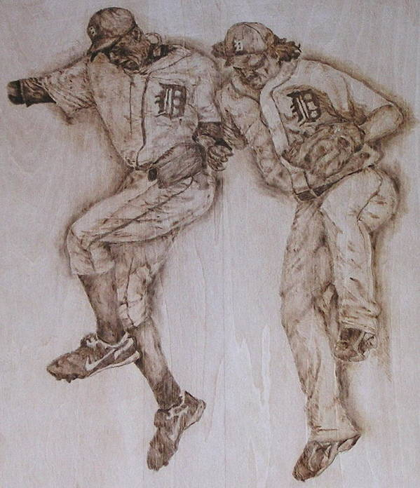 Tiger Poster featuring the pyrography A Couple Of Tigers by Dan LaTour