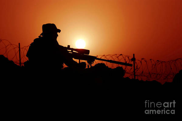 Firearms Poster featuring the photograph A U.s. Special Forces Soldier Armed by Stocktrek Images