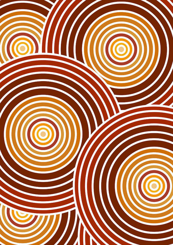 Frank Tschakert Poster featuring the painting Abstract Circles by Frank Tschakert