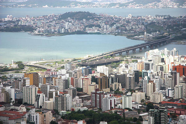 Horizontal Poster featuring the photograph Aerial View Of Florianópolis by DircinhaSW
