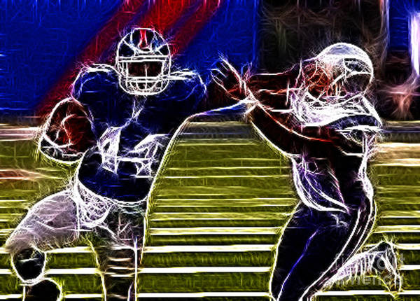 Football Poster featuring the photograph Ahmad Bradshaw by Paul Ward