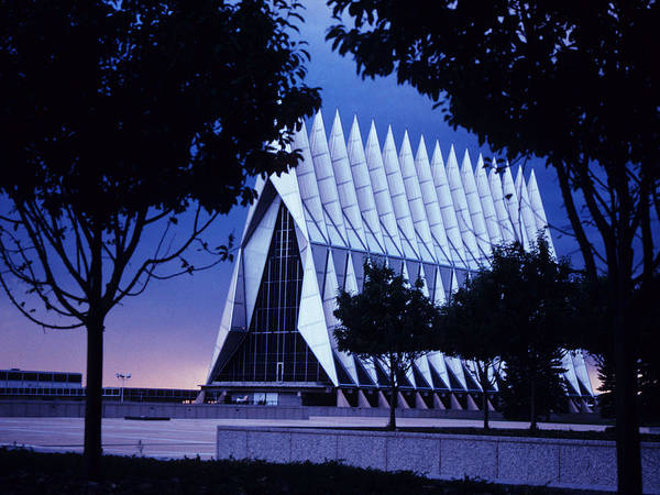 Colorado Springs Poster featuring the photograph Air Force The Cadet Chapel by GerMaine Photography