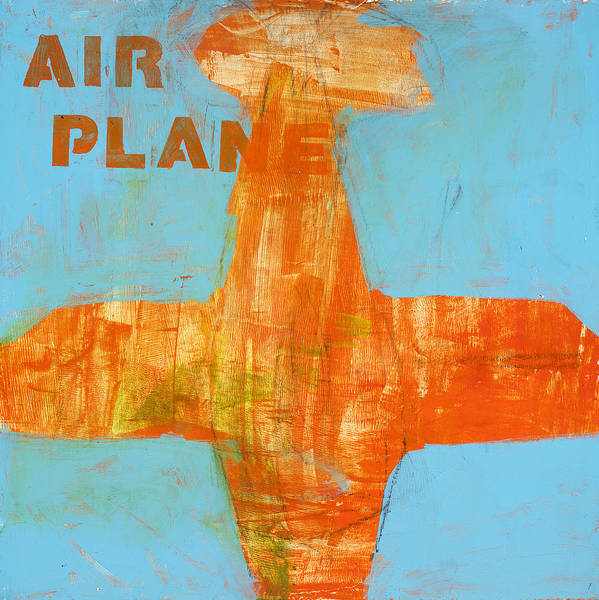 Airplane Painting Poster featuring the painting Airplane by Laurie Breen