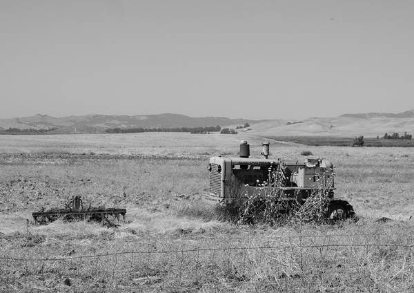 Abandoned Poster featuring the photograph Allis-chalmers Tractor by Troy Montemayor