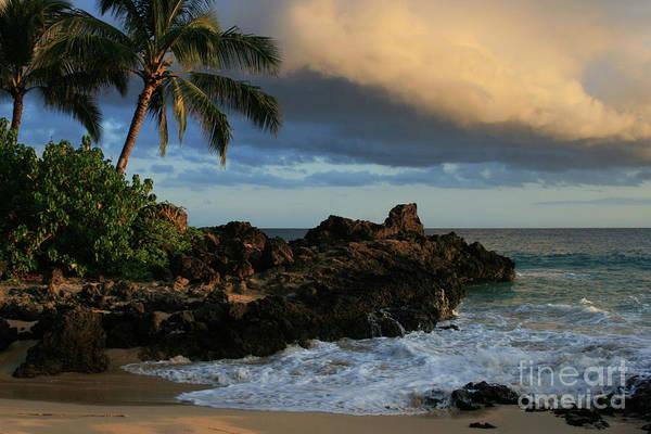 Aloha Poster featuring the photograph Aloha Naau Sunset Paako Beach Honuaula Makena Maui Hawaii by Sharon Mau