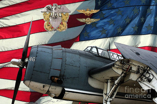 Grumman Poster featuring the digital art An American Tbf Avenger Pof by Tommy Anderson