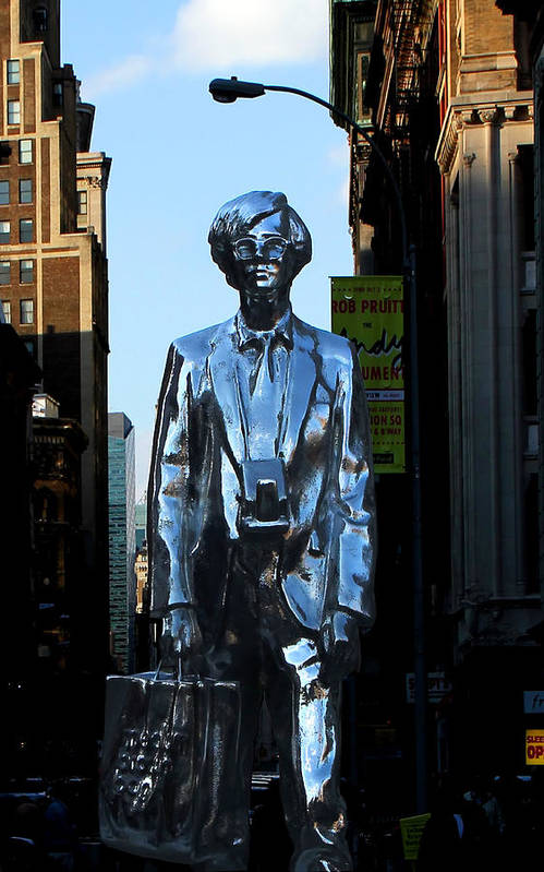 New York City Poster featuring the photograph Andy Warhol New York by Andrew Fare