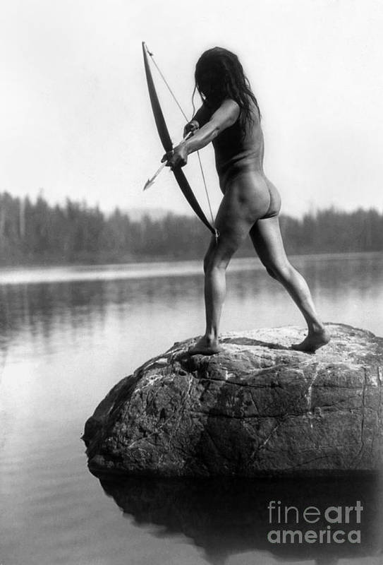 1910 Poster featuring the photograph Archery: Nootka Indian by Granger