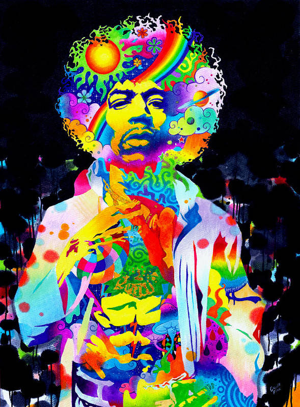 Music Poster featuring the drawing Are You Experienced? by Callie Fink